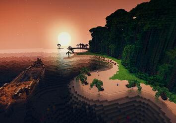 我的世界鲁宾逊漂流小岛地图包存档下载